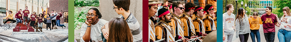 series of images of students at the university of minnesota